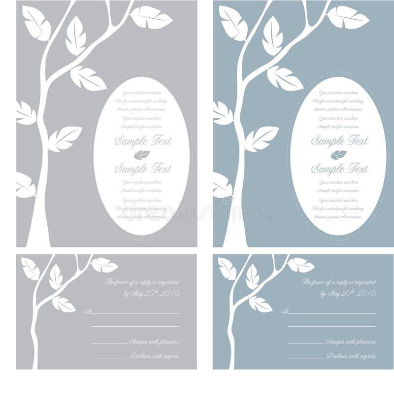 Panneaux d'invitation de mariage illustration de vecteur