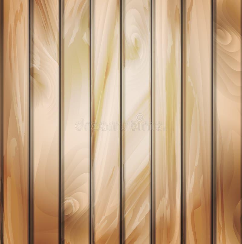 Panneaux de mur avec la texture détaillée en bois. illustration de vecteur