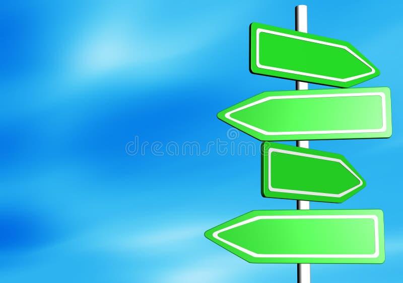 Panneaux de route illustration libre de droits