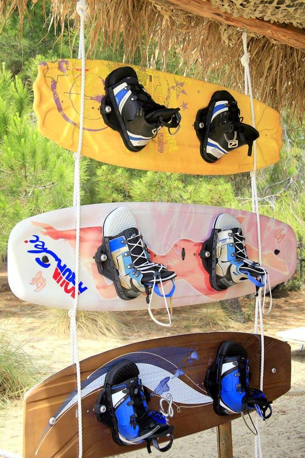 Panneaux de ski d'eau image libre de droits
