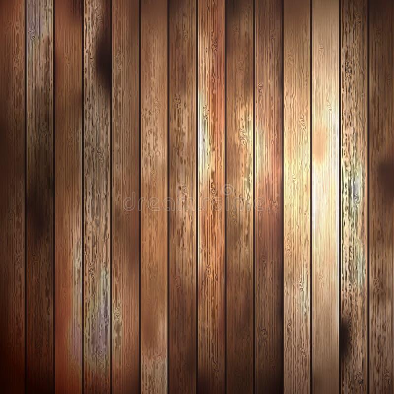 Panneaux de texture en bois de fond vieux. ENV 10 illustration de vecteur