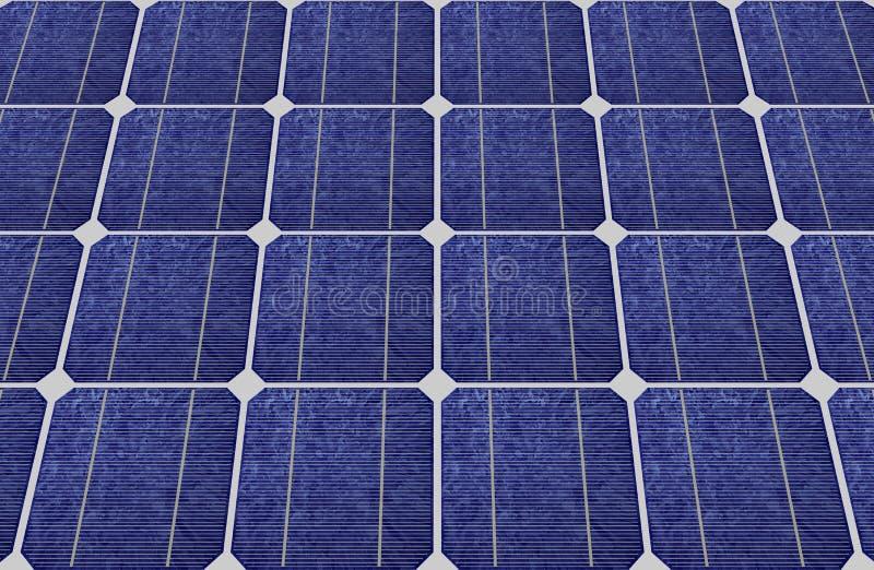 Panneaux des piles solaires bleues photo libre de droits