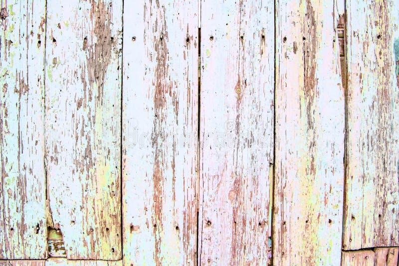 Panneaux en bois de couleur en pastel antiques, fond sale photographie stock libre de droits