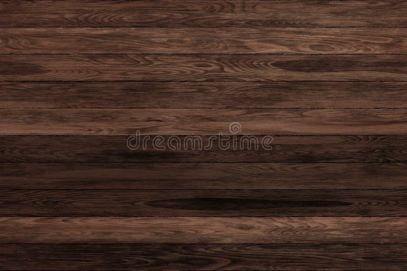 Panneaux en bois grunges foncés Fond de planches Plancher en bois de vintage de vieux mur photos libres de droits