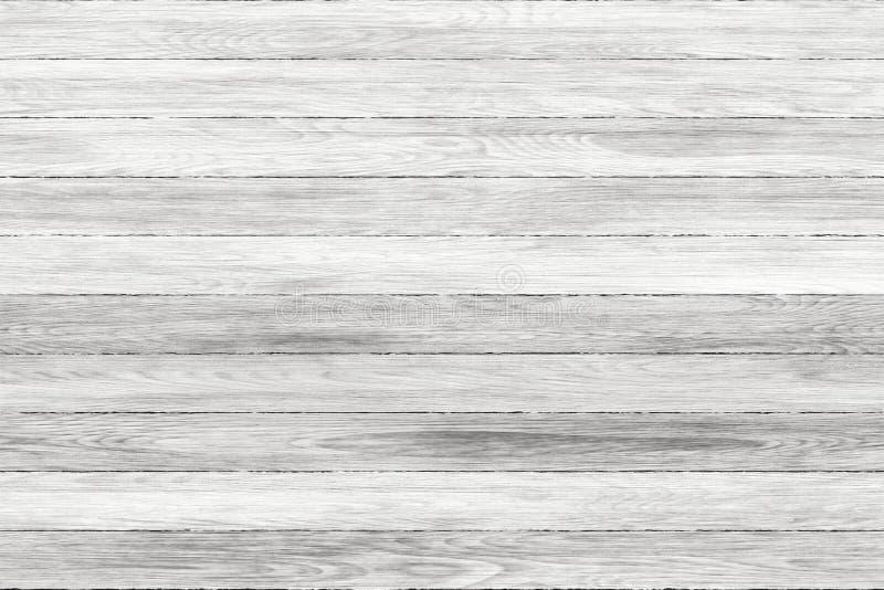 Panneaux en bois grunges lavés par blanc Fond de planches Vieux plancher en bois lavé de vintage de mur photographie stock libre de droits