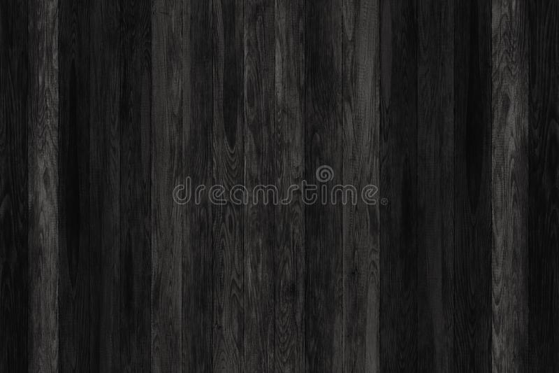 Panneaux en bois grunges noirs Fond de planches Plancher en bois de vintage de vieux mur photo libre de droits