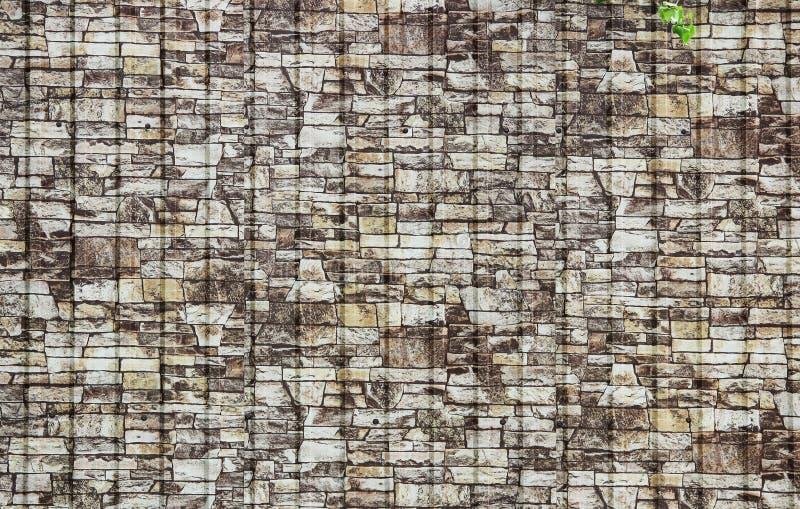 panneaux en plastique de texture qui imitent le mur en pierre images libres de droits