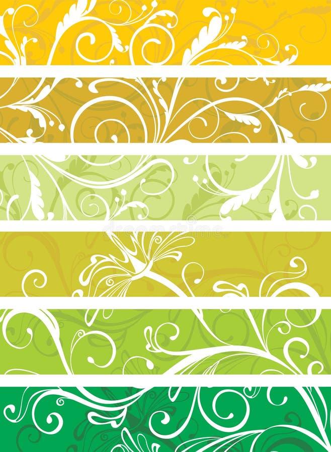 Panneaux floraux décoratifs illustration de vecteur