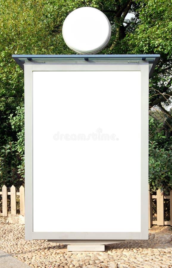 Panneaux-réclame à l'intérieur du stationnement photographie stock libre de droits