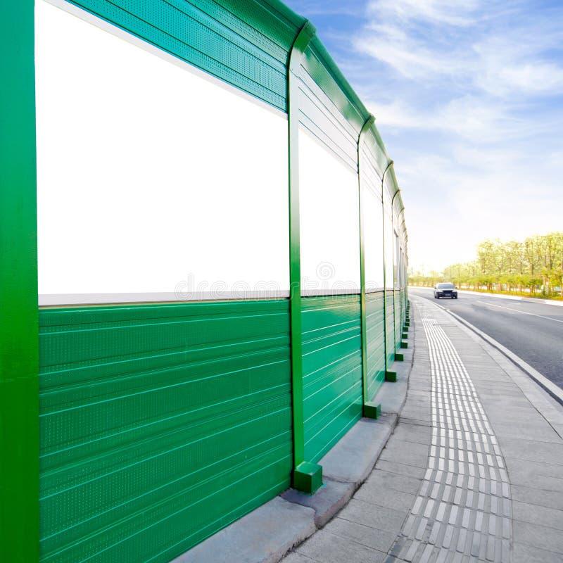 Panneaux-réclame de bord de la route image libre de droits