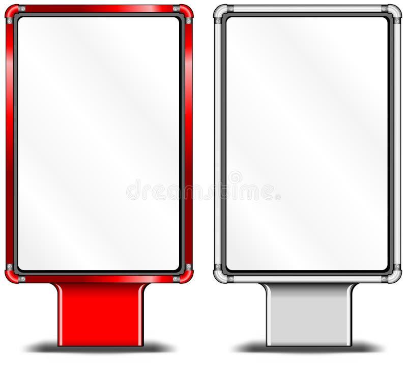 Panneaux-réclame verticaux illustration stock