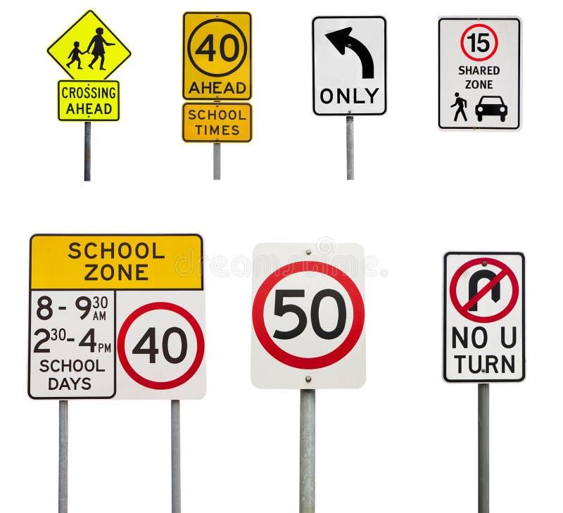 Panneaux routiers images stock