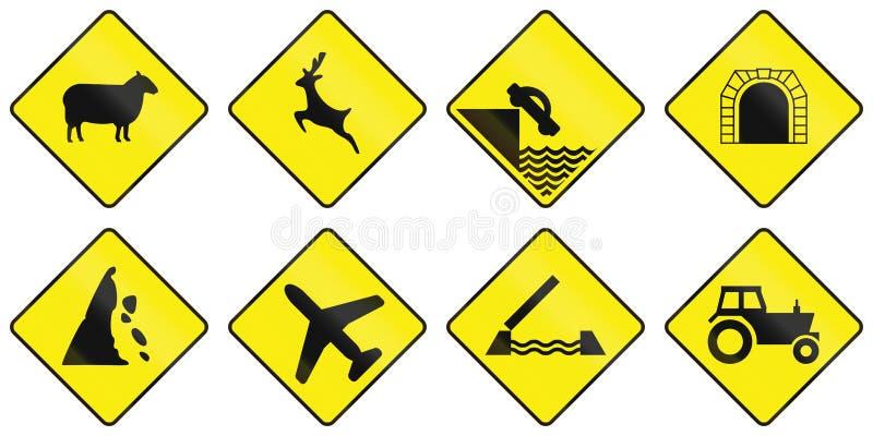 Panneaux routiers d'avertissement en Irlande illustration stock