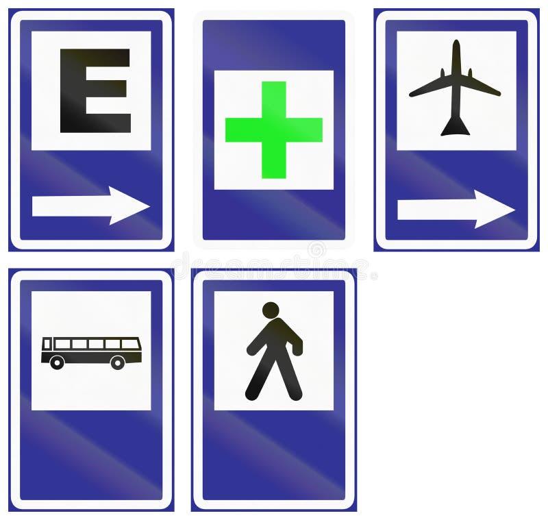 Panneaux routiers de l'information en Uruguay illustration de vecteur