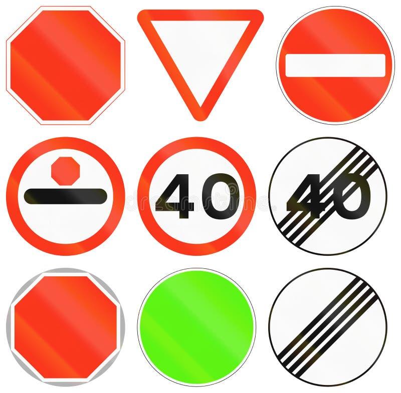 Panneaux routiers de réglementation au Bangladesh illustration de vecteur