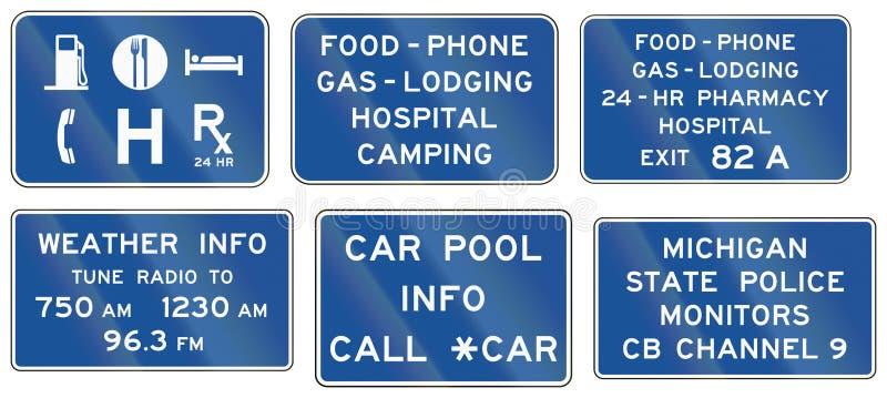 Panneaux routiers informationnels des Etats-Unis MUTCD illustration de vecteur