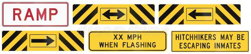 Panneaux routiers utilisés dans l'état d'USA du Texas illustration libre de droits