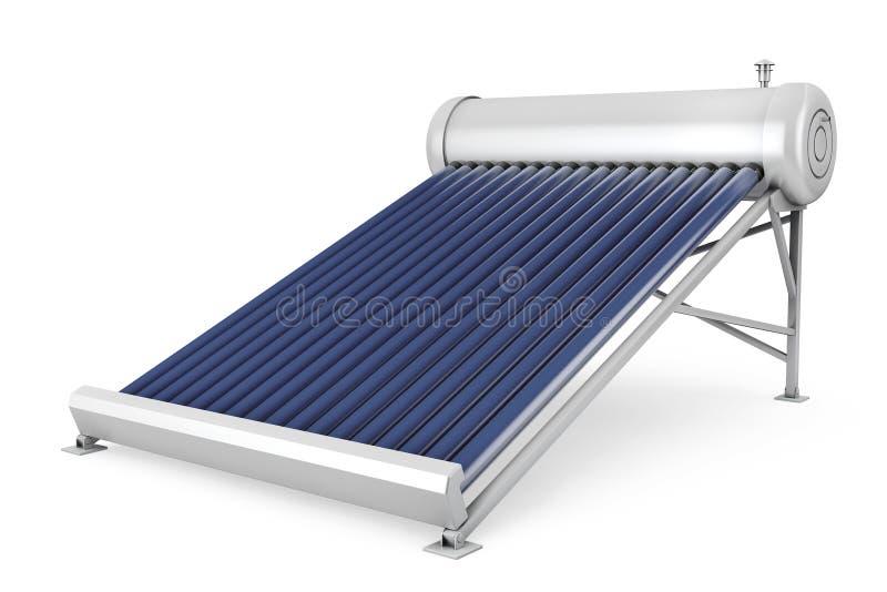 Panneaux solaires de chauffe-eau illustration de vecteur