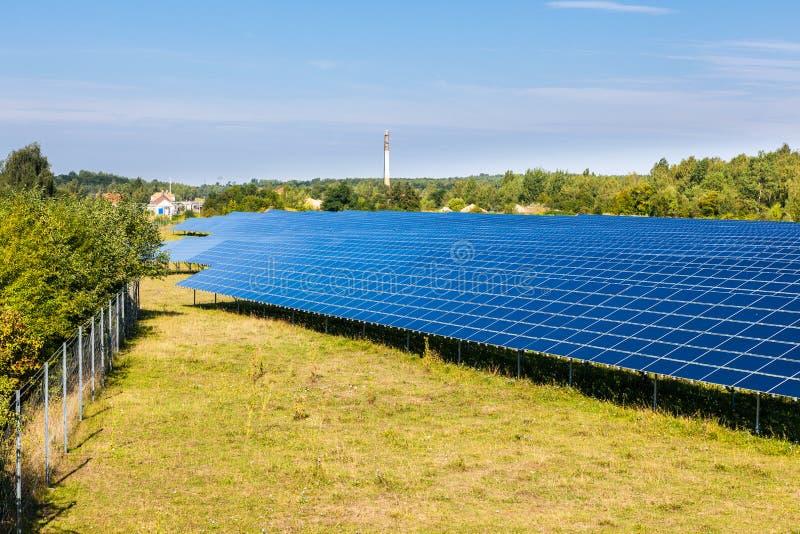 Pannelli solari immagini stock