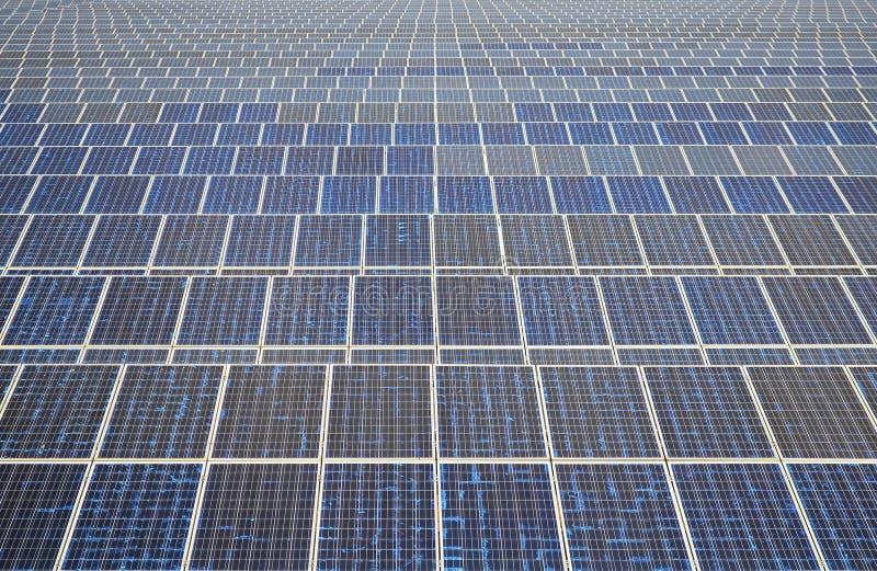 Pannelli solari in Tailandia, energia solare fotografia stock