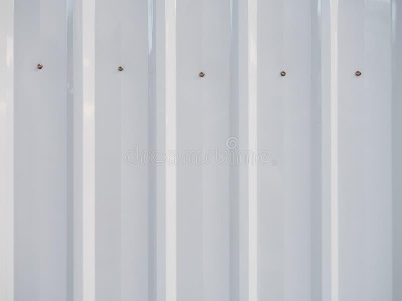 Pannello bianco della lamina di metallo immagine stock libera da diritti