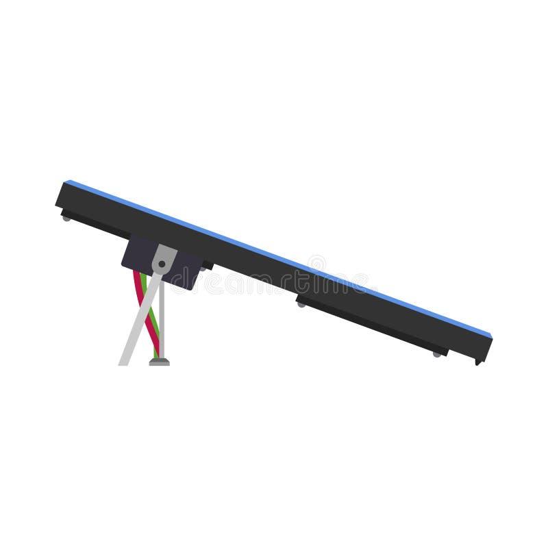 Pannello blu solare del sole dell'icona di vettore del materiale elettrico del collettore Sistema sostenibile di tecnologia dell' illustrazione di stock