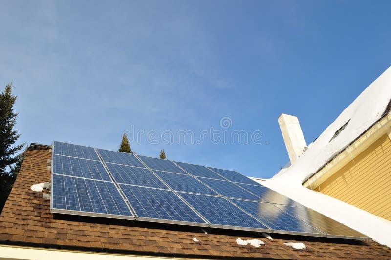Pannello 1 del collettore solare fotografia stock libera da diritti