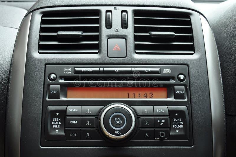 Pannello dell'autoradio immagine stock