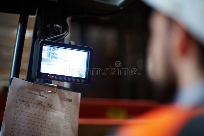 Pannello di controllo fotografia stock