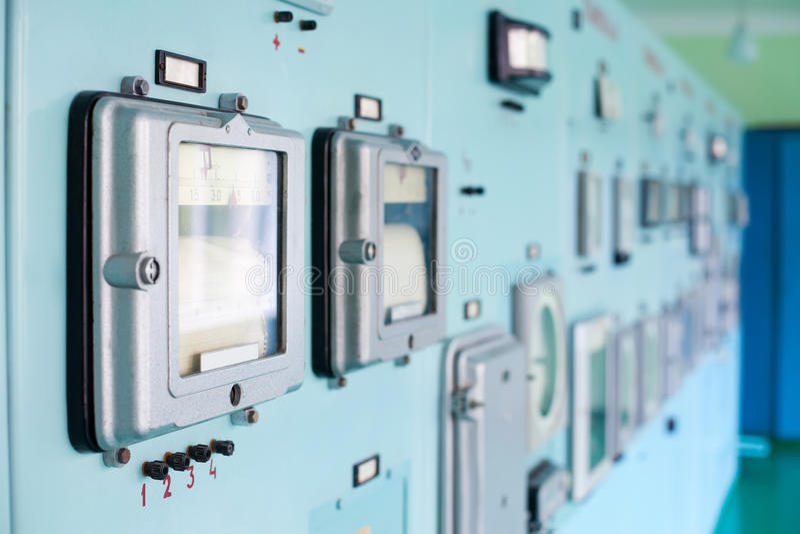 Pannello di controllo con strumentazione immagini stock libere da diritti