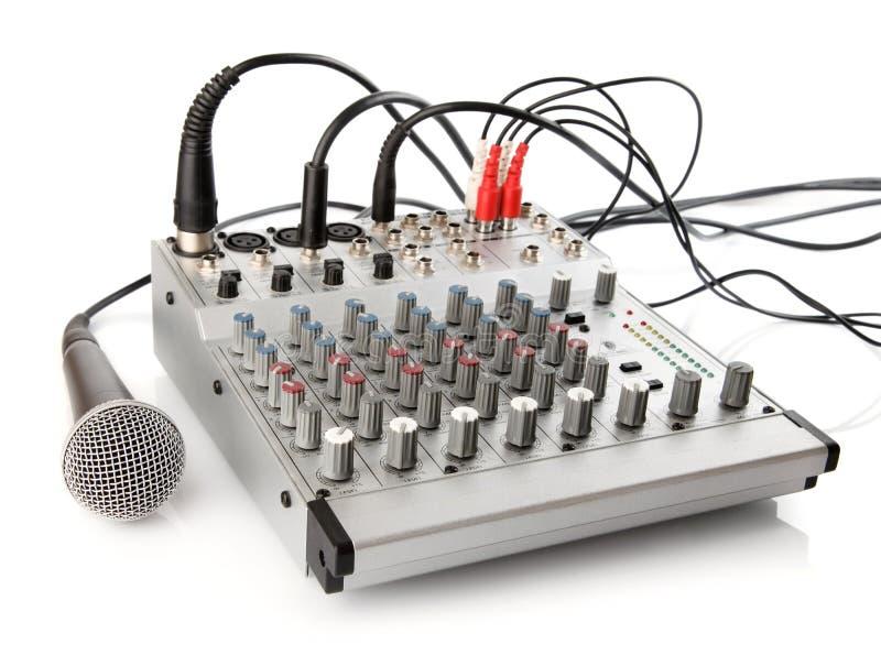 Pannello di controllo del DJ per la regolazione sana immagine stock libera da diritti
