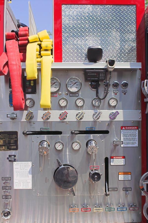 Pannello di controllo del Firetruck fotografie stock libere da diritti