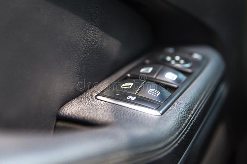 Pannello di controllo della finestra di automobile fotografia stock