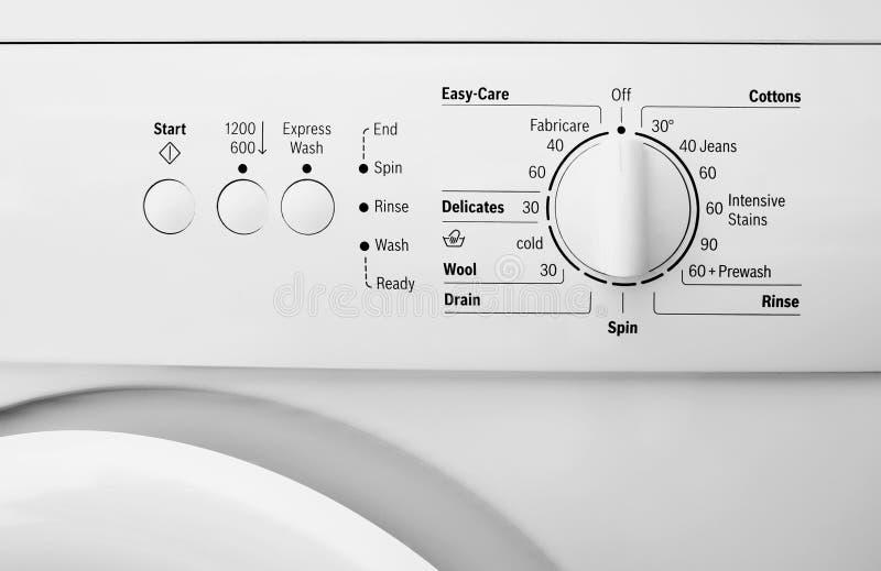 Pannello di controllo della lavatrice fotografia stock libera da diritti