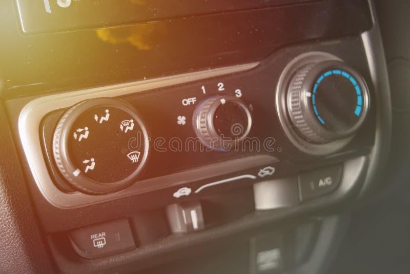 Pannello di controllo di stato dell'aria dell'automobile con polvere fotografie stock libere da diritti