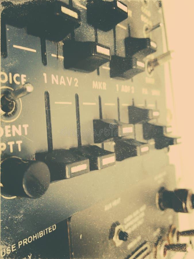 Pannello radiofonico degli aerei fotografia stock