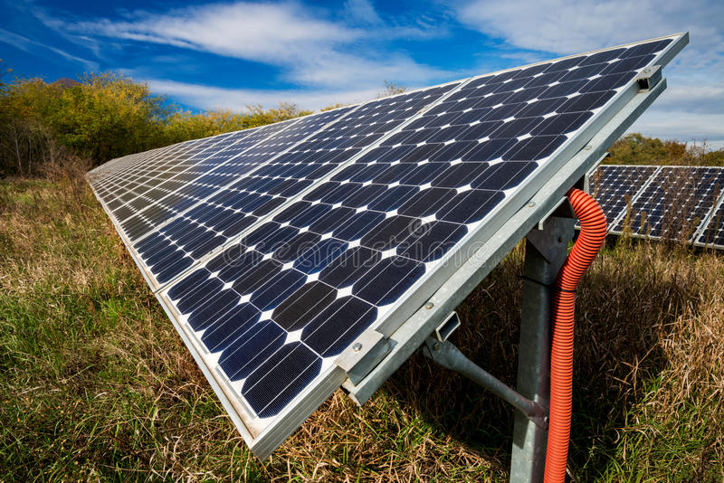 Pannello solare, fotovoltaico fotografia stock