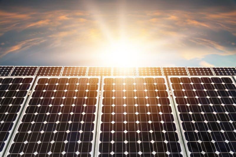 Pannello solare, fotovoltaico immagini stock