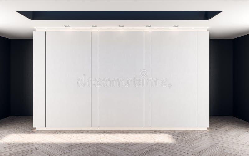 Pannels brancos abstratos da parede foto de stock
