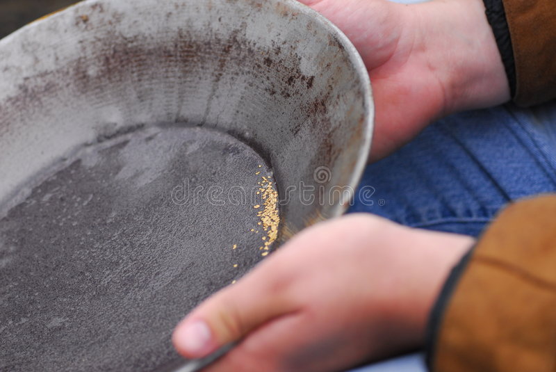 Panning for gold royalty free stock image