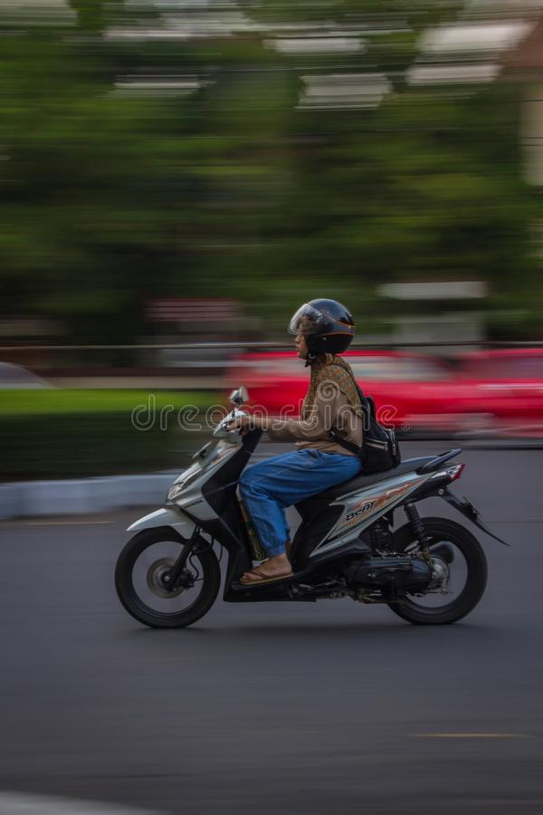 Panning photography semarang indonesia central java stock photography