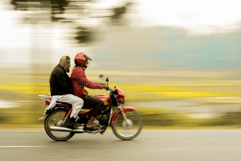 Panning. This stunning panning taken from a highway of Bangladesh stock photo