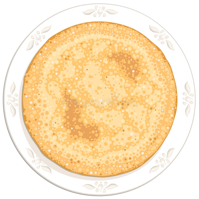 Pannkaka stock illustrationer