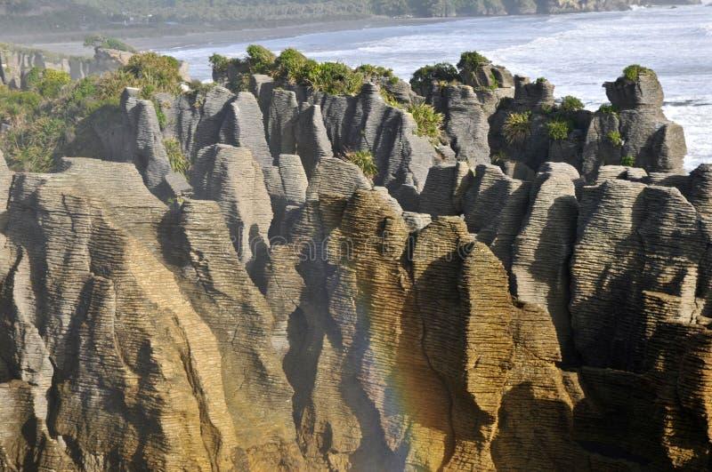 Pannkakan vaggar, Punakaiki, Nya Zeeland royaltyfri foto