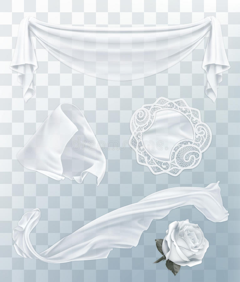 Panno bianco con la trasparenza illustrazione di stock