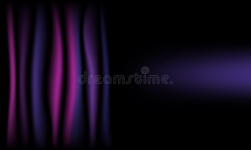Panno di seta viola del fondo dell'estratto con lo spazio della copia immagine stock libera da diritti