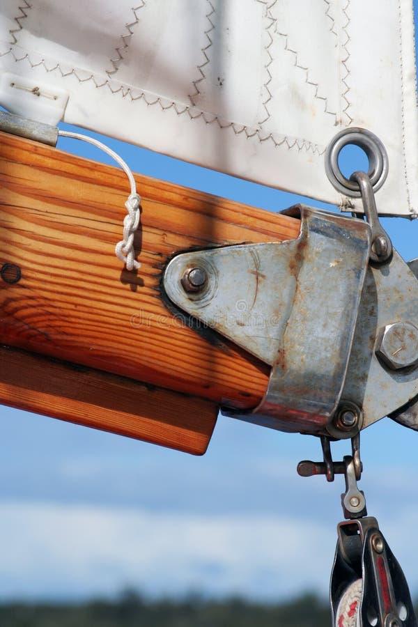 Panno e sartiame della vela fotografia stock libera da diritti