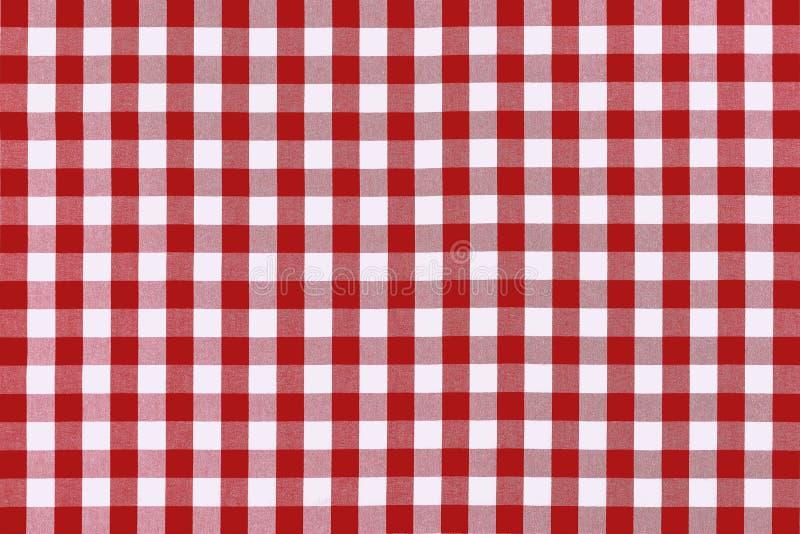 Panno rosso dettagliato di picnic fotografie stock