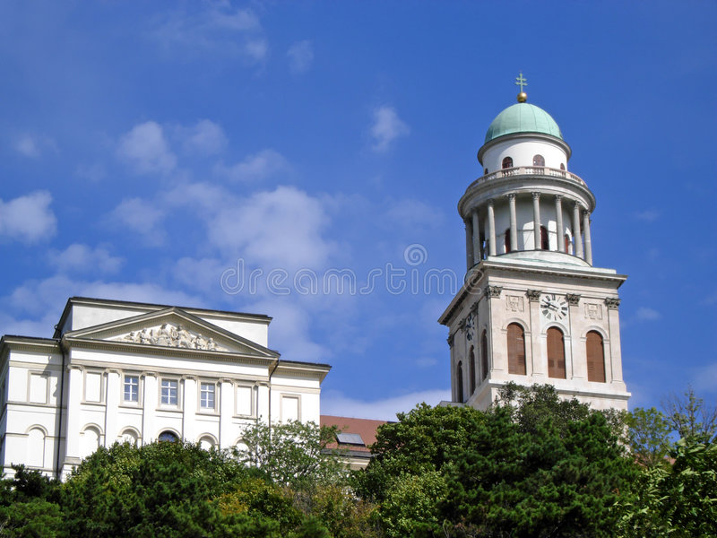 Pannonhalma Abbey. View of the historic abbey at Pannonhalma, Hungary stock photos