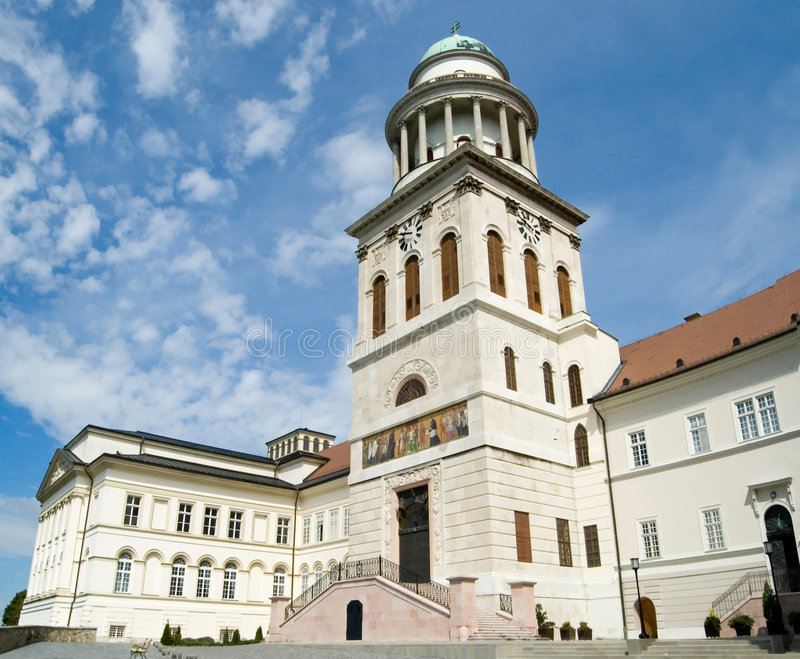 Pannonhalma Abbey. The magnificent historic abbey at Pannonhalma, Hungary royalty free stock image